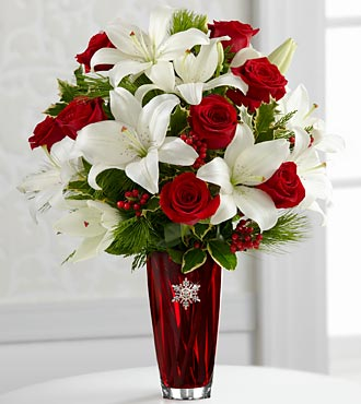 The Holiday Celebrations® Bouquet by FTD® - VASE INCLUDED