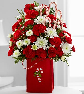 The Holiday Cheer™ Bouquet by FTD® - VASE INCLUDED