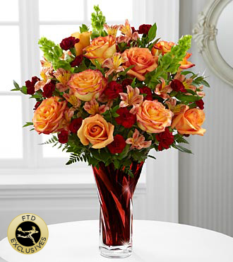 The FTD® Autumn Splendor® Bouquet - VASE INCLUDED