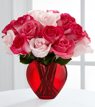 The Art of Love™ Rose Bouquet by FTD® - VASE INCLUDED