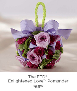 The FTD® Enlightened Love Pomander