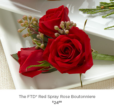 The FTD® Red SprayRose Boutonniere