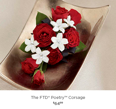 Corsages boutonnieres flower wrist corsage bridal bouquets and the ftd poetry corsage freerunsca Image collections