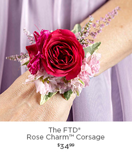 Corsages boutonnieres flower wrist corsage bridal bouquets and the ftd rose charm corsage mightylinksfo
