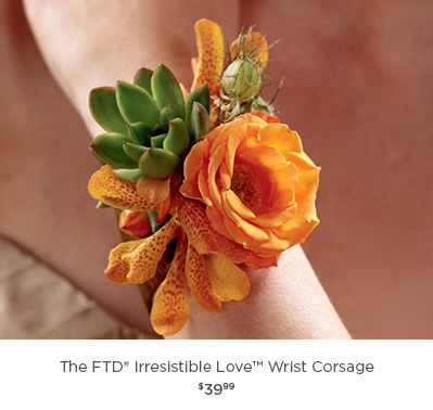 The FTD® Irresistible Love Wrist Corsage
