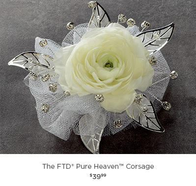 The FTD® Pure Heaven Corsage