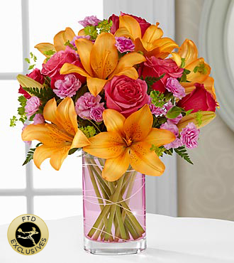 The FTD® Garden Terrace™ Bouquet - VASE INCLUDED