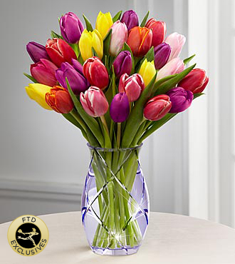 FTD® Spring Tulip Bouquet by Better Homes and Gardens® - VASE INCLUDED