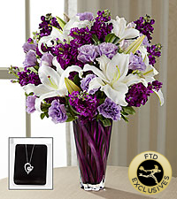 The FTD® Loving Thoughts® Bouquet with Heart Pendant