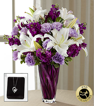The FTD� Loving Thoughts� Bouquet with Heart Pendant
