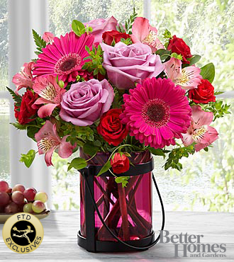 The FTD® Pink Exuberance™Bouquet by Better Homes and Gardens®