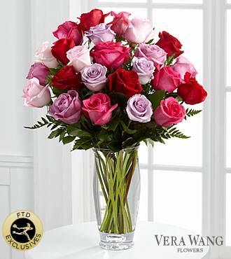 The FTD® Captivating Color™ Rose Bouquet by Vera Wang - Premium