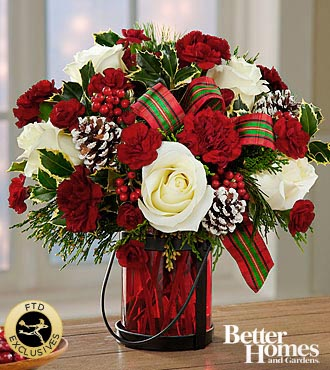 The FTD® Holiday Wishes™ Bouquet by Better Homes and Gardens