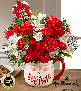 The FTD® Believe™ Mug Bouquet by Hallmark