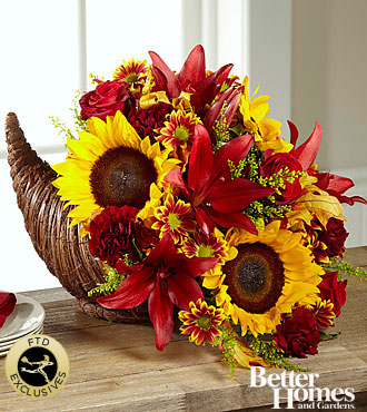 The FTD® Fall Harvest Cornucopia by Better Homes and Gardens