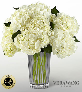 The FTD� Ivory Hydrangea Bouquet by Vera Wang