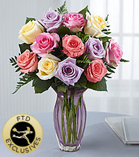 The FTD® Mother's Day Mixed Rose Bouquet-VASE INCLUDED