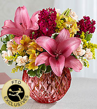 The FTD® Pink Poise™ Bouquet-VASE INCLUDED