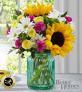The FTD®Sunlit Meadows™ Bouquet by Better Homes and Gardens® - VASE INCLUDED
