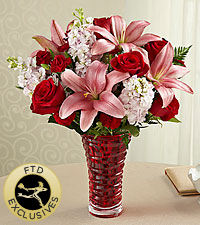 The FTD® Lasting Romance® Bouquet - VASE INCLUDED