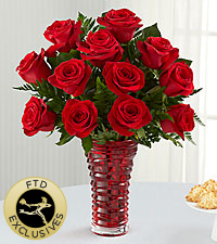 The FTD® In Love with Red Roses™ Bouquet - VASE INCLUDED