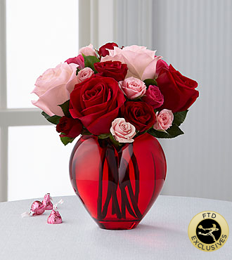 The FTD® My Heart to Yours™ Rose Bouquet- VASE INCLUDED