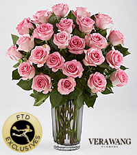 The FTD® Blush Rose Bouquet by Vera Wang - VASE INCLUDED