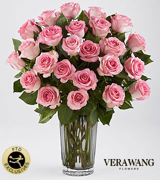 The FTD� Blush Rose Bouquet by Vera Wang