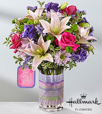 The FTD® So Very Loved™ Bouquet by Hallmark  - VASE INCLUDED
