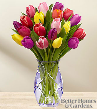 The FTD® Spring Tulip Bouquet by Better Homes and Gardens® -VASE INCLUDED