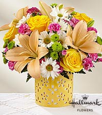 The FTD® Brighter Than Bright™ Bouquet by Hallmark - VASE INCLUDED