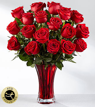 The FTD® In Love with Red Roses™ Rose Bouquet