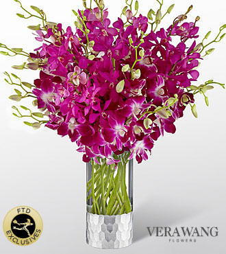 The FTD® Orchid™  Bouquet by Vera Wang