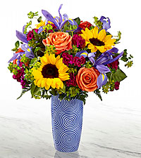 The FTD® Touch of Spring® Bouquet- VASE INCLUDED