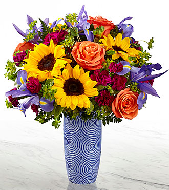 The FTD® Touch of Spring® Bouquet-VASE INCLUDED