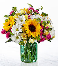 Le bouquet Sunlit Meadows™ de FTD® – VASE INCLUS