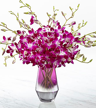 The FTD® Pink at Heart™ Orchid Bouquet-VASE INCLUDED