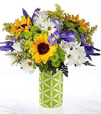 Le bouquet Sunflower Sweetness™ de FTD® – VASE INCLUS