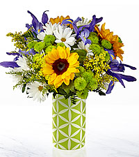 Le bouquet Sunflower Sweetness™ de FTD® – VASE INCLUS