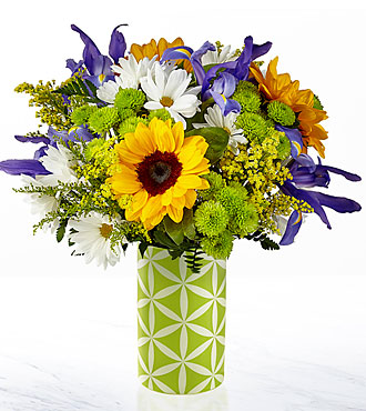 The FTD® Sunflower Sweetness™ Bouquet-VASE INCLUDED
