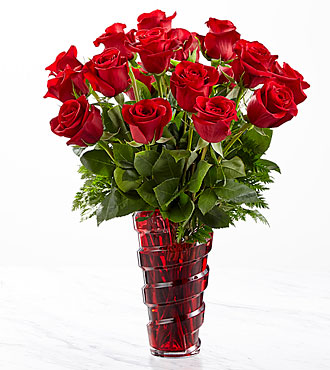 The FTD® In Love with Red Roses™ Bouquet VASE INCLUDED