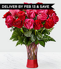 The FTD® Art Of Love™ Rose Bouquet VASE INCLUDED