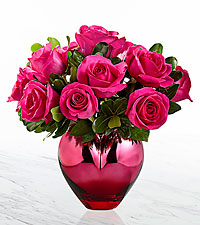 The FTD® Hold Me in Your Heart™ Rose Bouquet- VASE INCLUDED