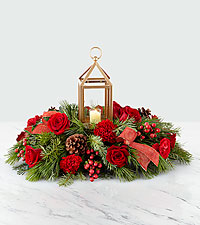 The FTD® I'll Be Home for Christmas  Lantern Centerpiece – Preimum