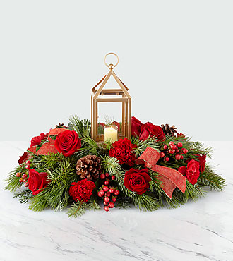 I'll Be Home for Christmas™ Lantern Centerpiece – Premium