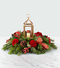 The FTD ® I'll Be Home for Christmas Lantern Centerpiece