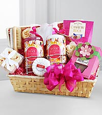 Pretty & Pink Mimosa Spa Gift
