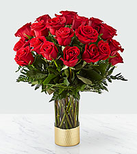 Gorgeous Red Rose Bouquet – 24 Red Roses