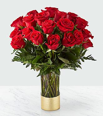 Bouquet de roses rouges Gorgeous –24 roses rouges