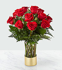 Gorgeous Red Rose Bouquet – 12 Red Roses
